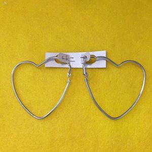 Jewelry - Heart Shaped Hoop Earrings